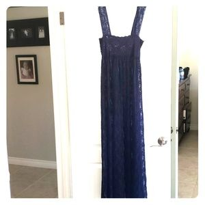 Free people intimates lace dress navy